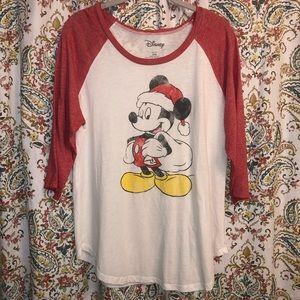 Disney NWOT XL Mickey Christmas Shirt